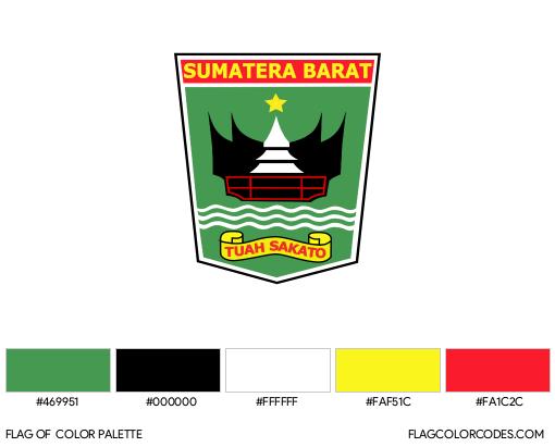 West Sumatra Flag Color Palette