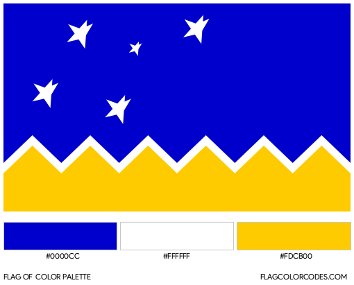 Magallanes Region Flag Color Palette