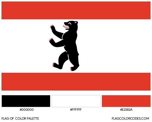 Berlin Flag Color Palette