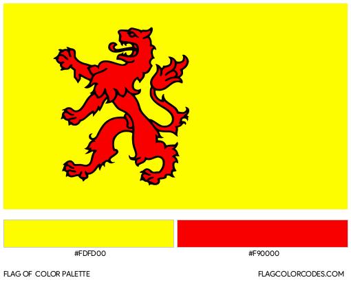South Holland Flag Color Palette