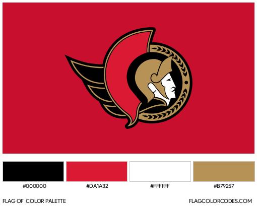 Ottawa Senators Flag Color Palette