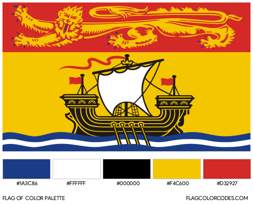 New Brunswick Flag Color Palette
