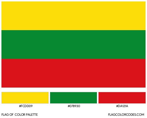 Bolívar Flag Color Palette