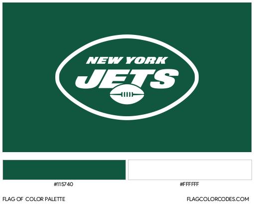 New York Jets Flag Color Palette