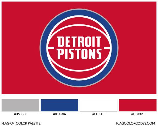 Detroit Pistons Flag Color Palette