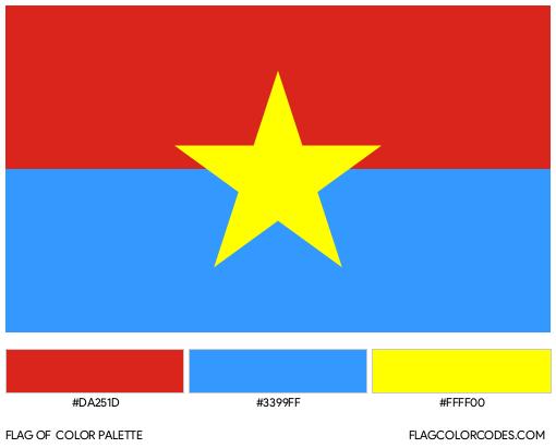 Viet Cong Flag Color Palette