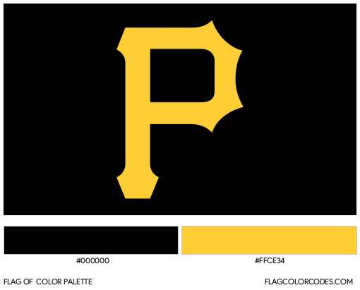 Pittsburgh Pirates Flag Color Palette