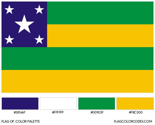 Sergipe Flag Color Palette