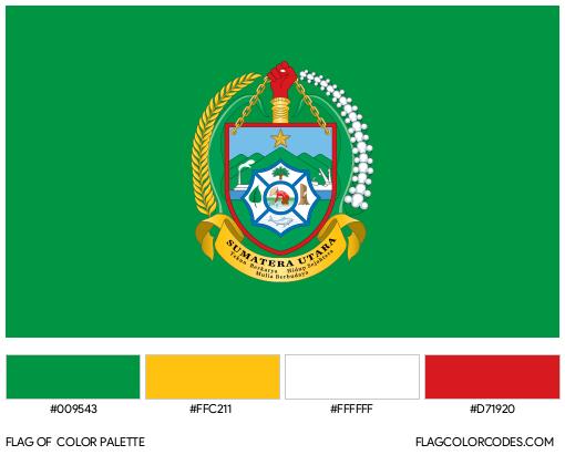 North Sumatra Flag Color Palette