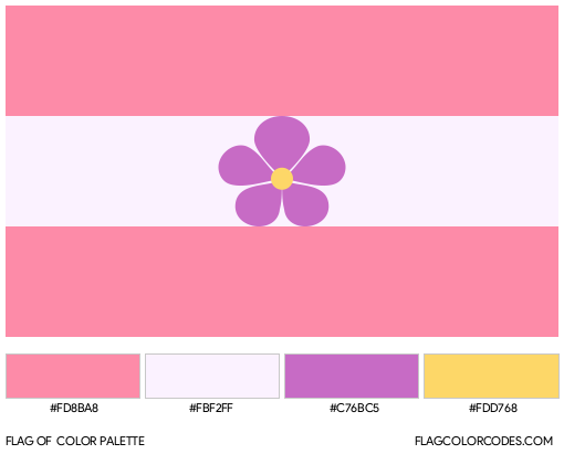 Sapphic Pride Flag Color Palette