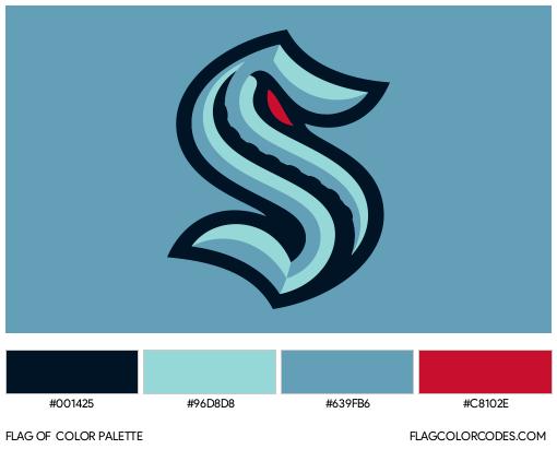 Seattle Kraken Flag Color Palette