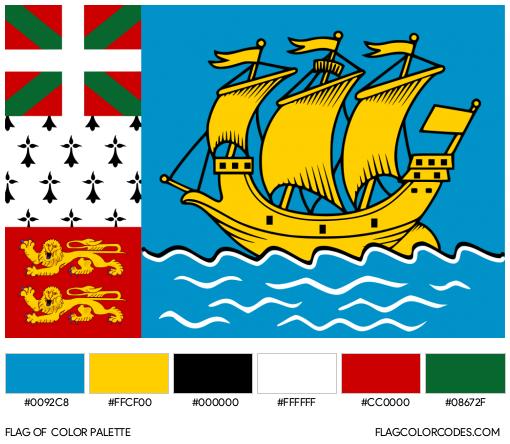 Saint Pierre et Miquelon (Unofficial) Flag Color Palette