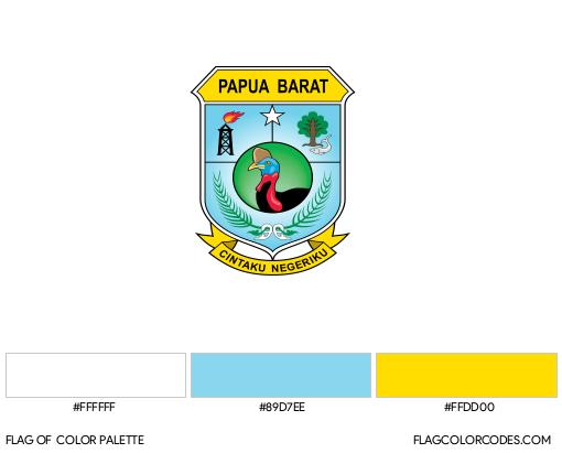 West Papua Flag Color Palette