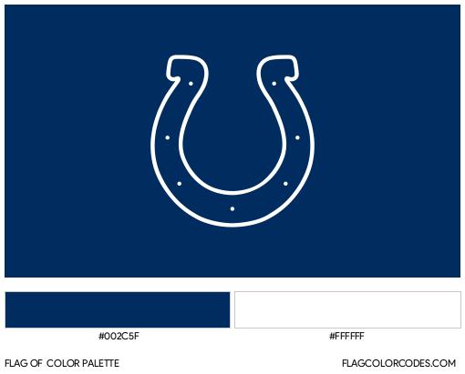 Indianapolis Colts Flag Color Palette