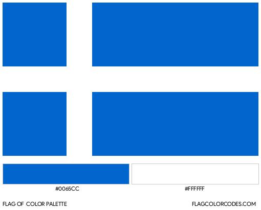 Shetland Flag Color Palette