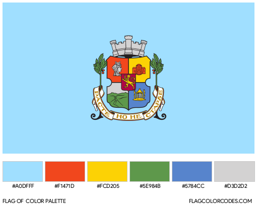 Sofia Flag Color Palette