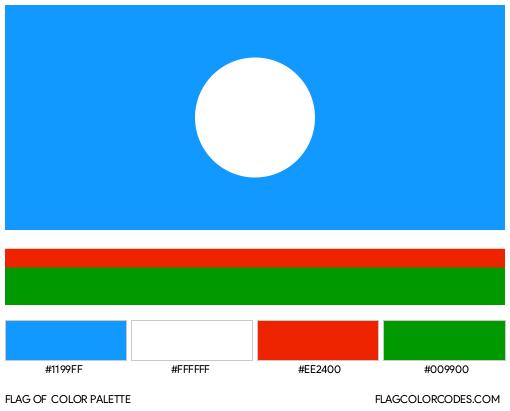 Sakha (Yakutia) Republic Flag Color Palette