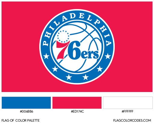 Philadelphia 76ers Flag Color Palette