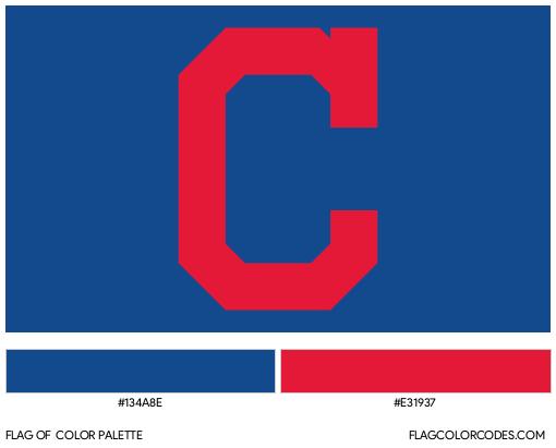 Cleveland Indians Flag Color Palette