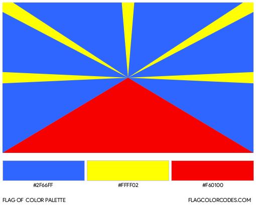 Réunion Flag Color Palette