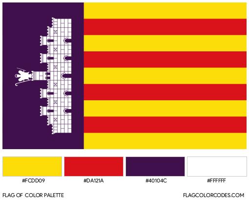 Mallorca Flag Color Palette