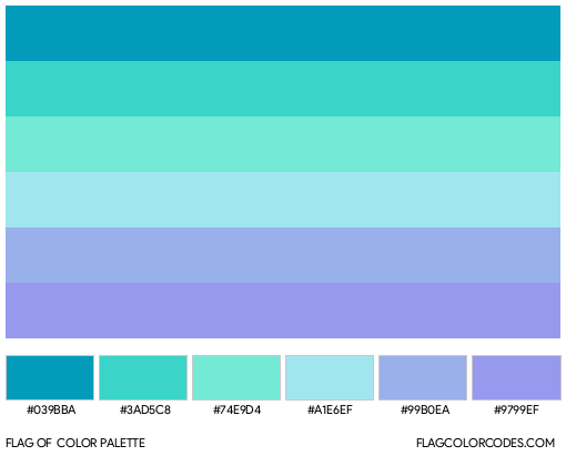 Neptunic Flag Color Palette