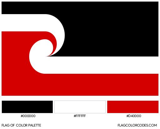 Maori Flag Color Palette