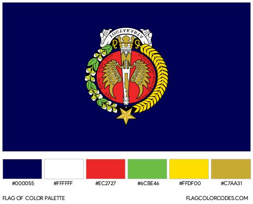 Yogyakarta Flag Color Palette