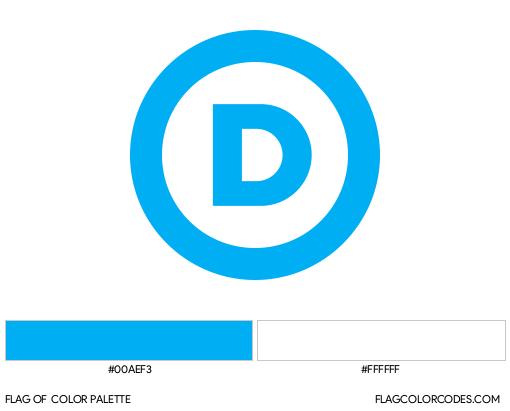 Democratic Party Flag Color Palette