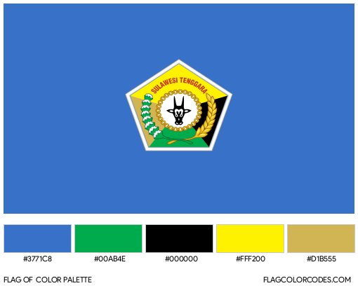 Southeast Sulawesi Flag Color Palette