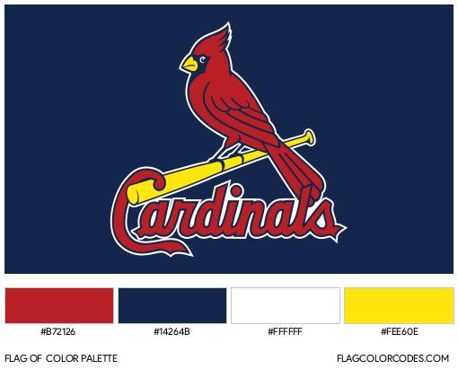 St. Louis Cardinals Flag Color Palette
