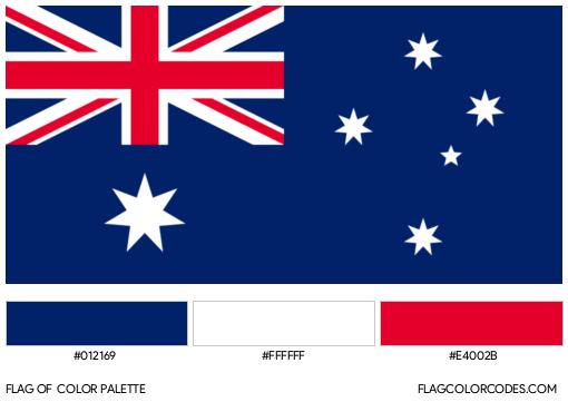 Australia Flag Color Palette