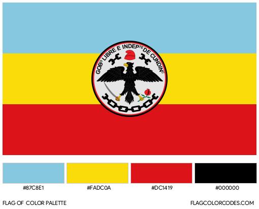 Cundinamarca Flag Color Palette