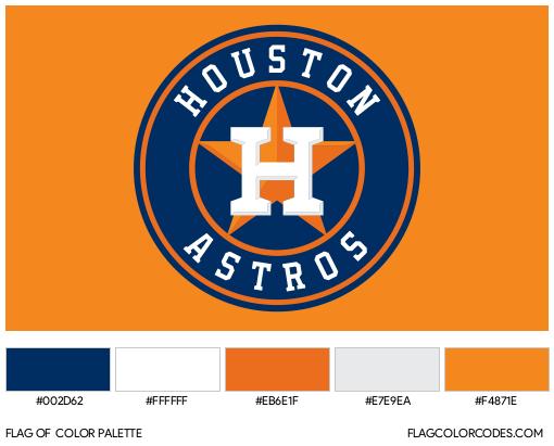 Houston Astros Flag Color Palette