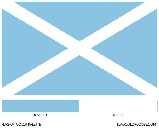 San Andrés y Providencia Flag Color Palette