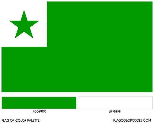 Esperanto Flag Color Palette
