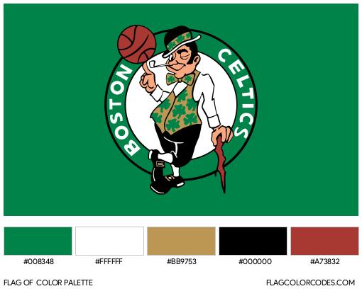 Boston Celtics Flag Color Palette