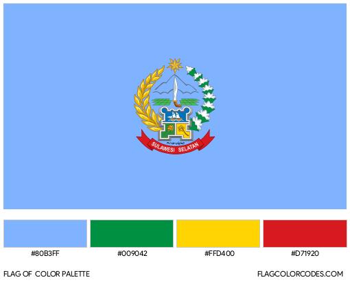 South Sulawesi Flag Color Palette