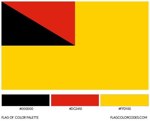 Negeri Sembilan Flag Color Palette