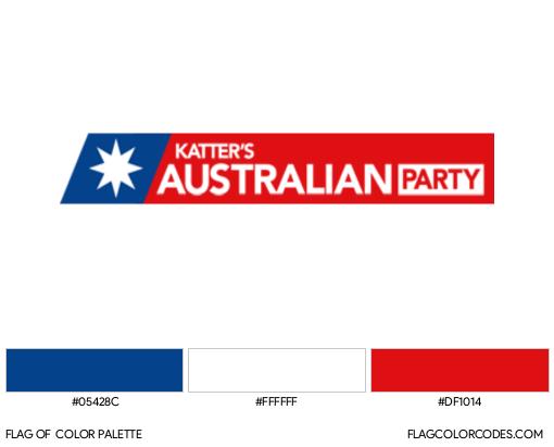 Katter's Australian Party Flag Color Palette