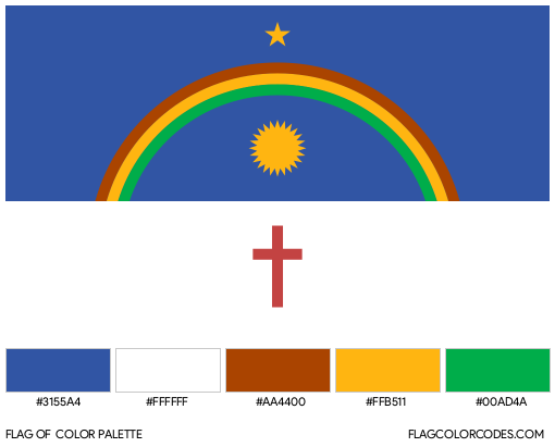 Pernambuco Flag Color Palette