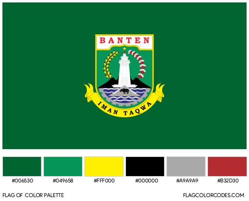 Banten Flag Color Palette