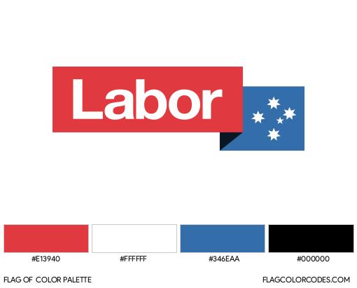 Australian Labor Party Flag Color Palette
