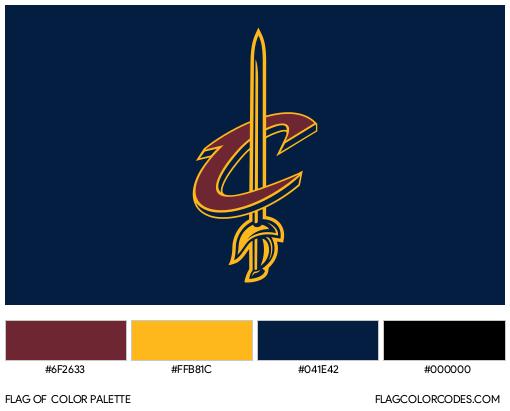 Cleveland Cavaliers Flag Color Palette