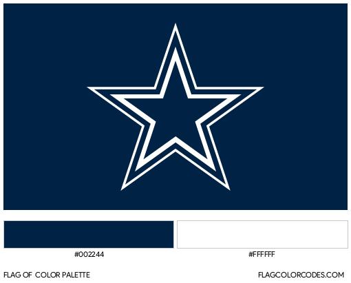 Dallas Cowboys Flag Color Palette