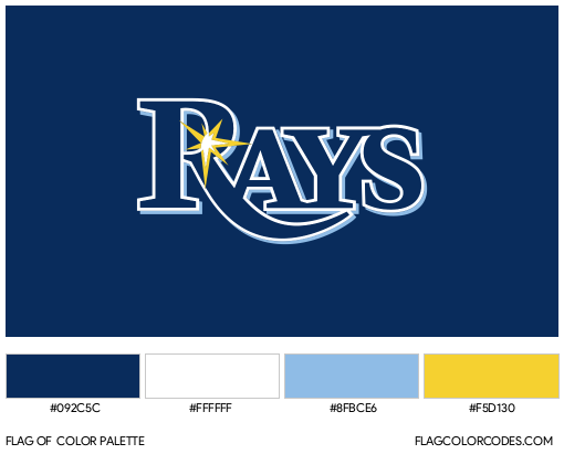 Tampa Bay Rays Flag Color Palette