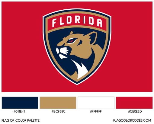 Florida Panthers Flag Color Palette
