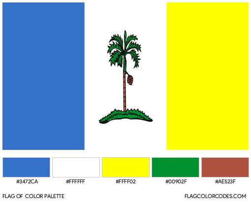 Penang Flag Color Palette