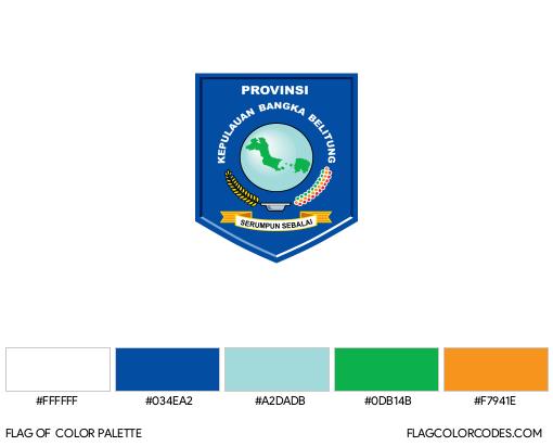 Bangka Belitung Flag Color Palette