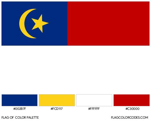 Melaka Flag Color Palette